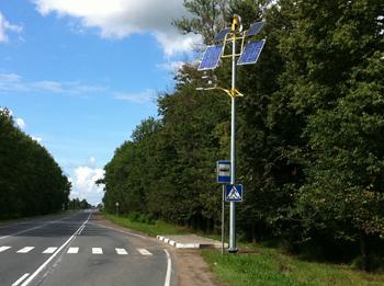Автономные осветители на Таллинском шоссе