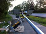 Монтаж Автономного уличного осветителя на Таллинском шоссе